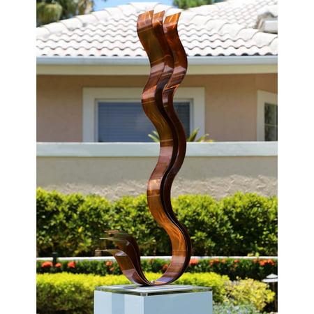 Copper Garden Sculpture - Statements2000 Metal Sculpture Modern Yard Art Garden Decor by Jon Allen, Copper Transitions Flat Base