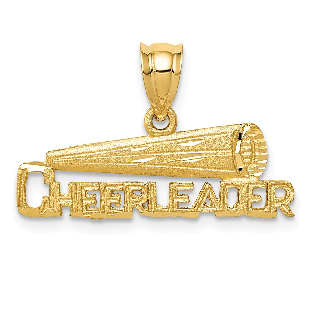 14k Yellow Gold Cheerleader Pendant