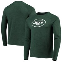 New York Jets NFL Pro Line by Fanatics Branded Iconic Tonal Logo Raglan Long Sleeve T-Shirt - Green