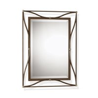 Uttermost 11547 B Scratched Bronze With Champagne Silver Leaf Thierry Beveled Mirror