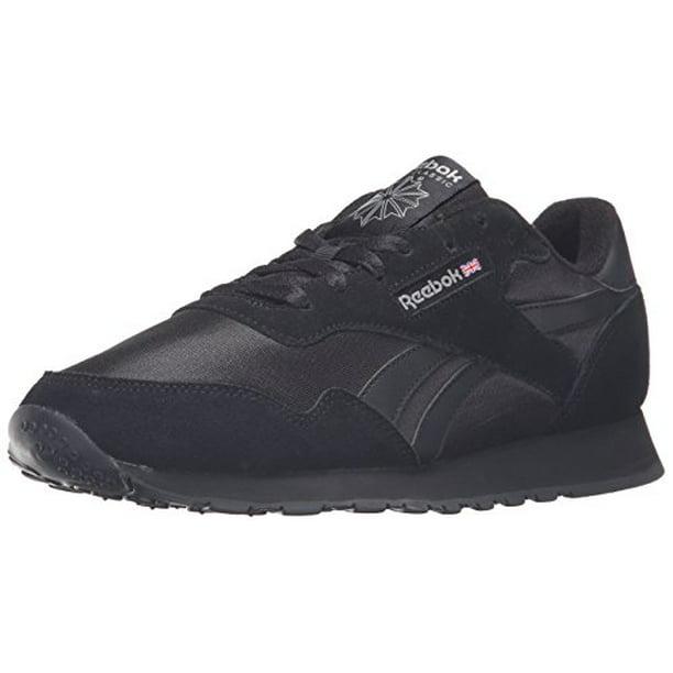 Reebok BD1554 : Royal Nylon Classic Fashion Sneaker, Black/Black/Carbon