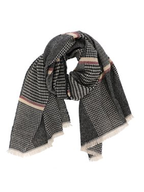 Houndstooth and Stripes Fashion Scarf