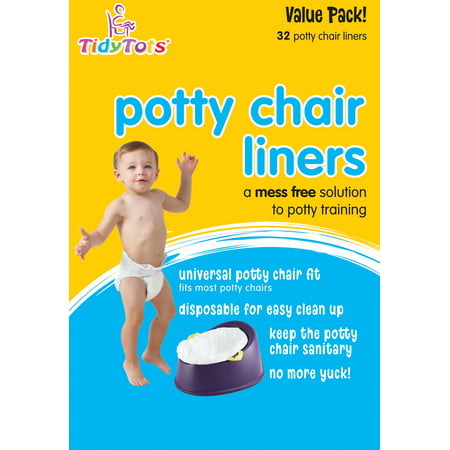 TidyTots Disposable Potty Chair Liners - Value Pack - 32 liners - Universal Potty Chair Fit (fits most potty (Potty Topper Disposable)
