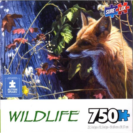 Autumn Red Fox 750 Piece Puzzle 750 Piece Panoramic Puzzle