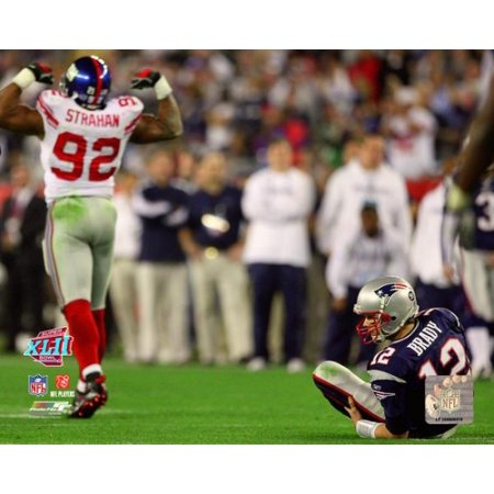 Michael Strahan 2007 Super Bowl Xlii Action Photo Print