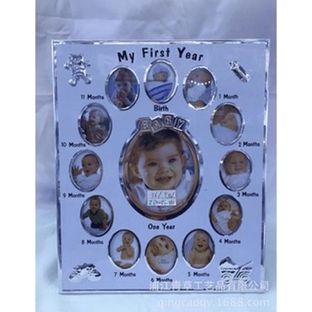BABY 1st Year 12 MONTH PHOTO FRAME COLLAGE Birthday Christening Gift DIY Newborn - image 4 of 6