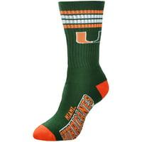Miami Hurricanes For Bare Feet Women's Four Stripe Socks
