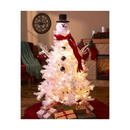 snowman topper holiday christmas tree decoration ornament festive