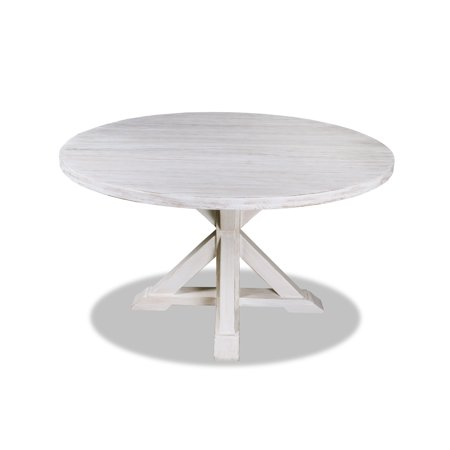 South Cone Home La Phillippe Reclaimed Wood Round Dining Table 72