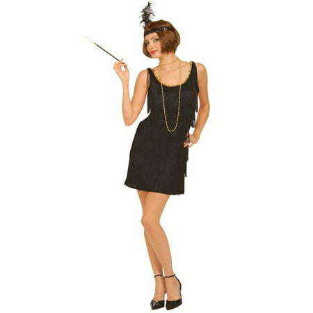 Womens Black Flapper Halloween Costume