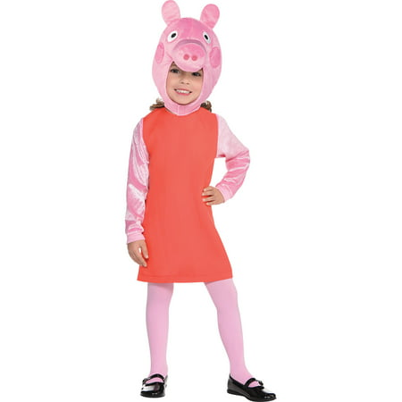 Peppa Pig Costume for Girls, Size Small, Includes a Dress, Tights, and (20's Girl Costume)
