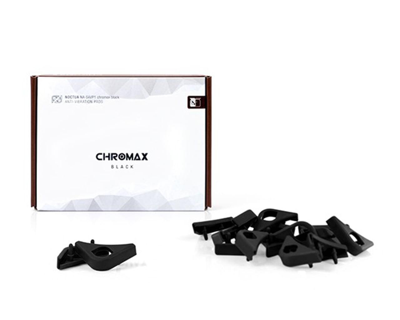 Noctua NA-SAVP1 chromax.black Anti-Vibration Pads for 120//140mm Noctua Fans Black, 16-pack