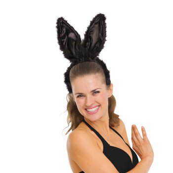 SUPER DLX BUNNY EARS-BLACK](Black And White Bunny Ears)