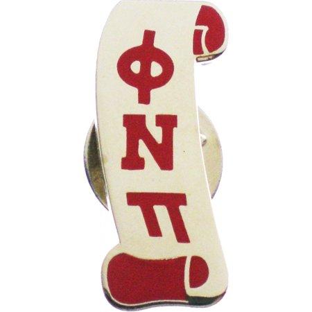 Kappa Alpha Psi Phi Nu Pi Scroll Nupe Lapel Pin  Silver   1