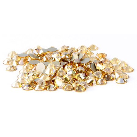 Swarovski 144 pieces Crystal Golden Shadow (001 GSHA) NEW 2088 Xirius ss20 round Flat backs Rhinestones 5mm 1 gross Zipperstop