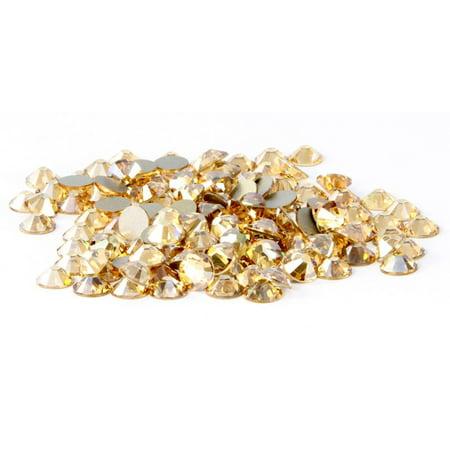Swarovski 144 pieces Crystal Golden Shadow (001 GSHA) NEW 2088 Xirius ss20 round Flat backs Rhinestones 5mm 1 gross Zipperstop Austrian Swarovski Flat Back Rhinestones