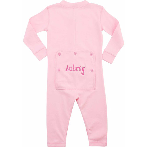 Personalized Infant Message Long John, Pink