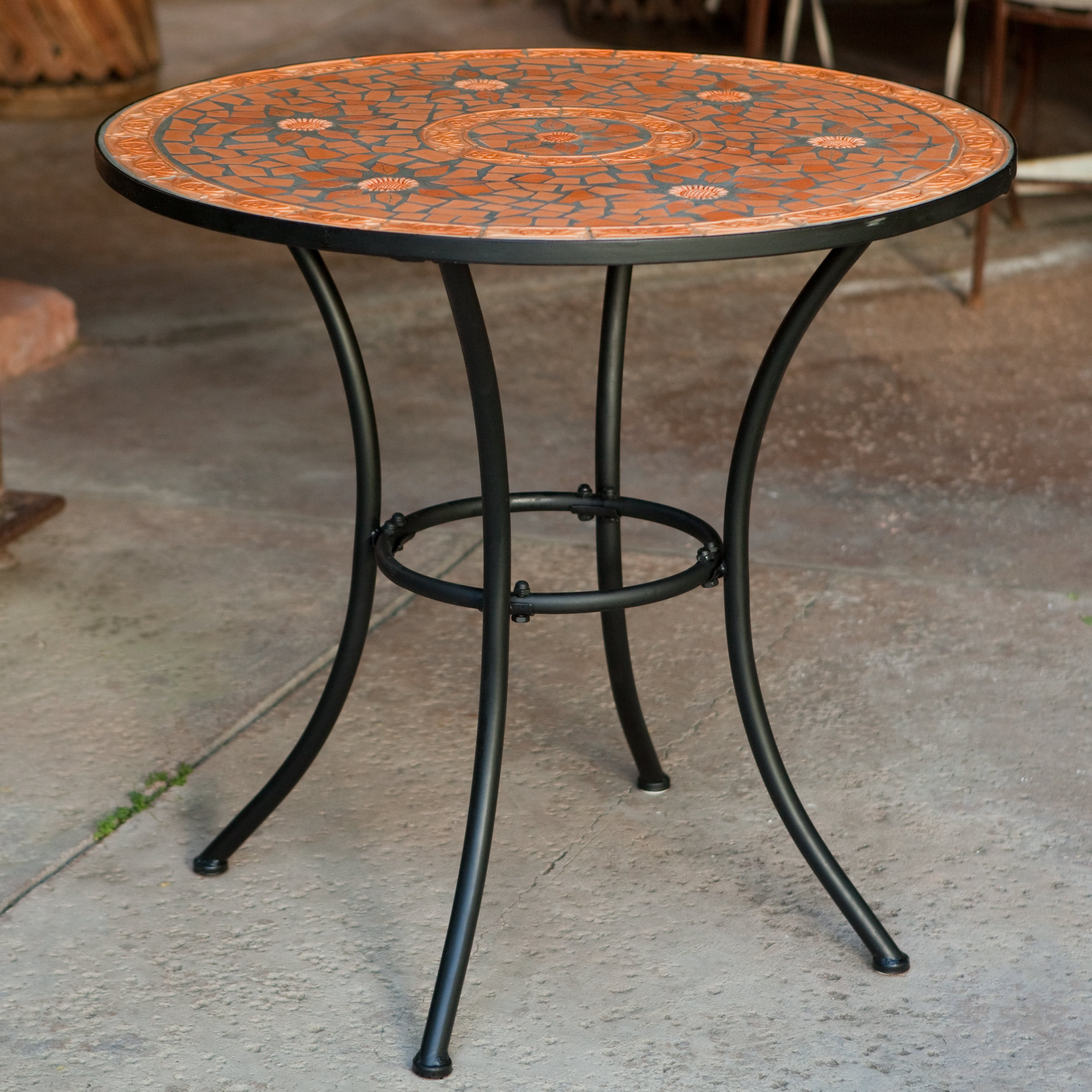Coral Coast Terra Cotta Mosaic Bistro Table by 4 Seasons Global Inc