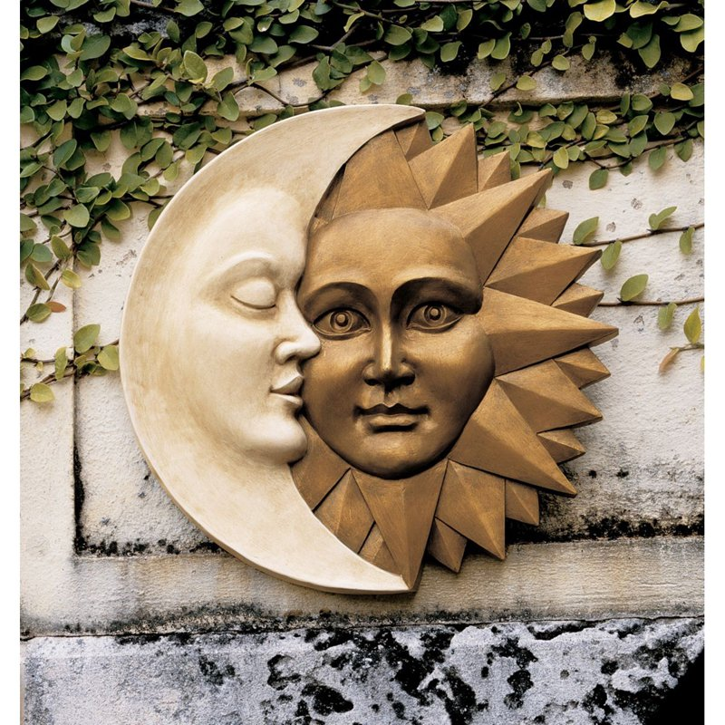 Design Toscano Celestial Harmony Sun and Moon Wall Sculpture