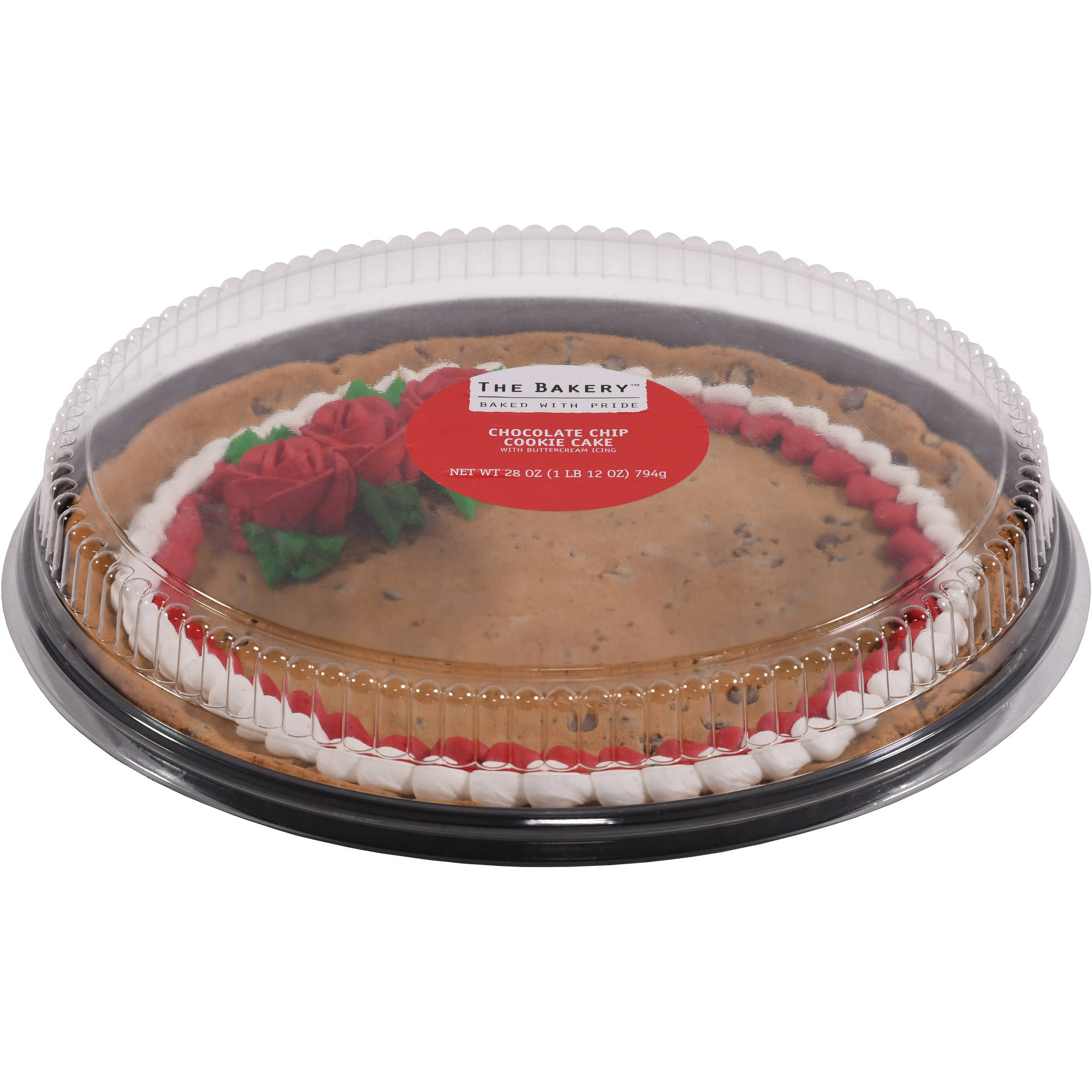 walmart cookie cake wal mart bakery pre decorated message chocolate chip 8354