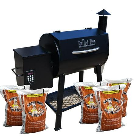 Pellet Pro 300 Bbq Wood Pellet Grill W  Pid Controller  Pellets   Cold Smoker