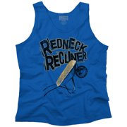 Funny Redneck Life Clothing Mens Drinking Recliner Tank Top by Brisco Brands