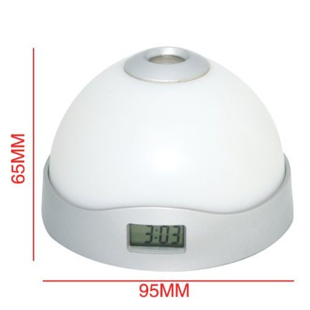 Fashion LED Color_Change Projection Alarm Clock Rainbow Color _ 65*95mm_ 2.5*3.7 inches
