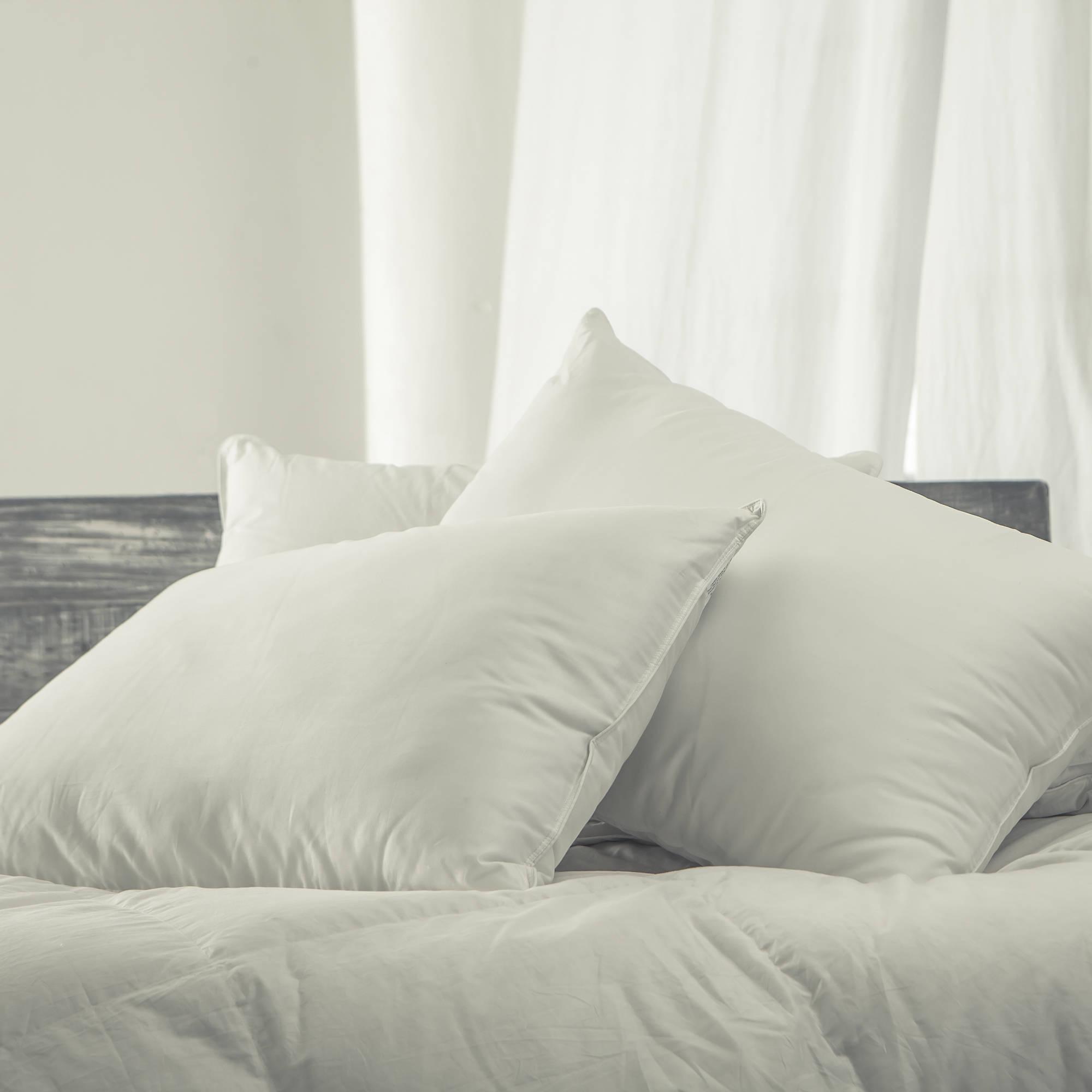 Cozy Classics Dacron Comforel Silky Medium Down Alternative Pillows, 2pk