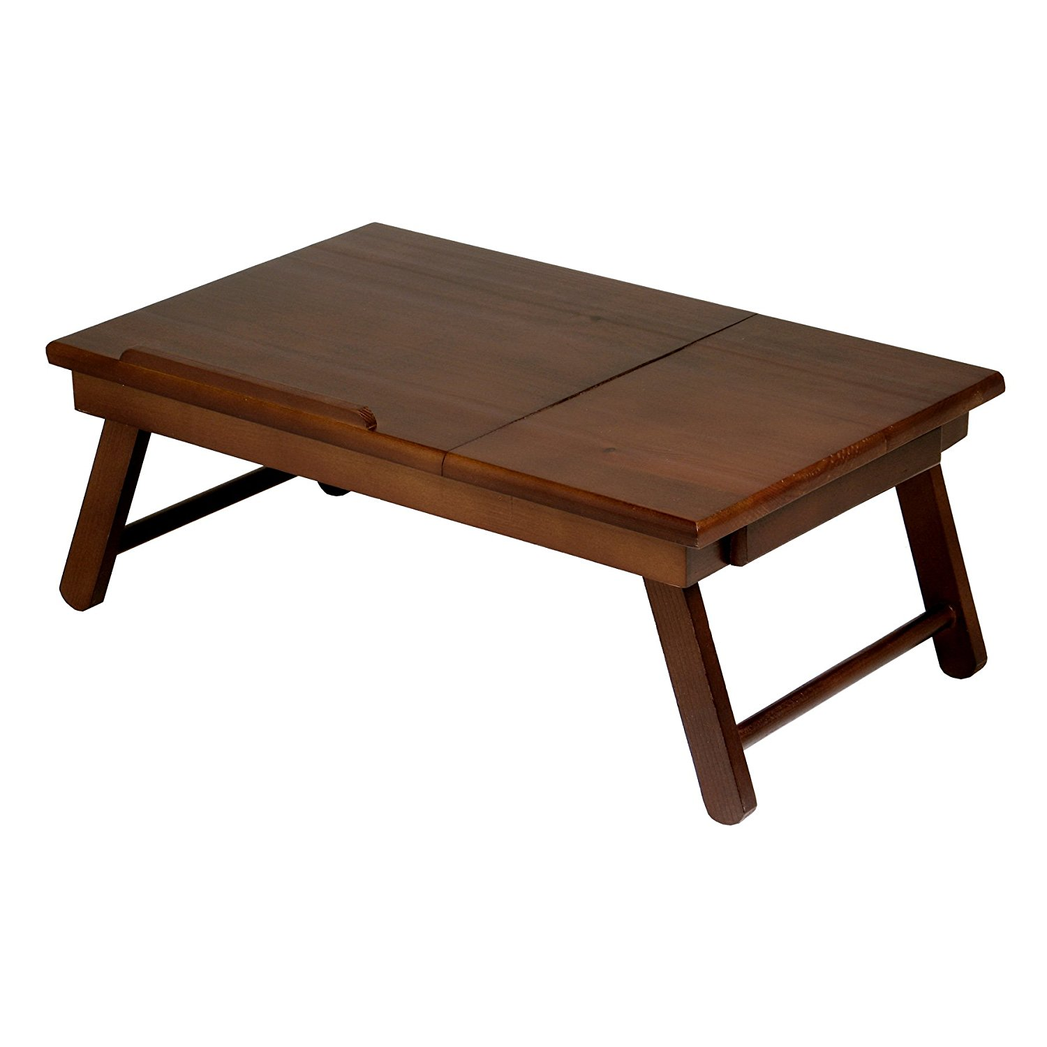 Alden Lap Desk, Flip Top with Drawer, Foldable Legs, Wood Lap Desk work station By Winsome Wood by