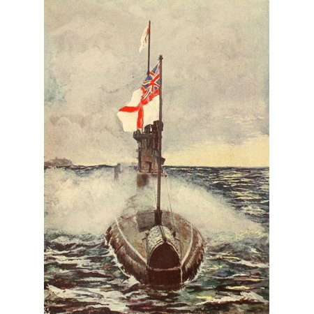 Why the Nations are at War 1915 E-type submarine Canvas Art - Unknown (24 x 36)