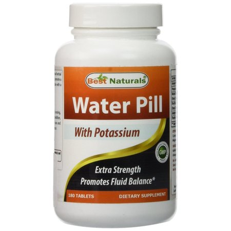 Best Naturals Water Pill with Potassium Tablets, 180 (Best Natural Prostate Pills)