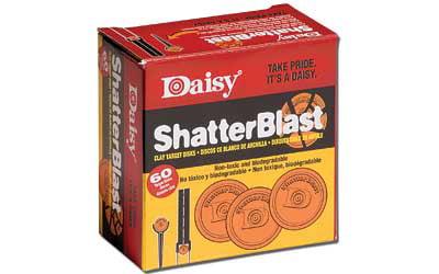 Daisy Model 873 ShatterBlast Clay Targets, Orange, 60pk by Daisy