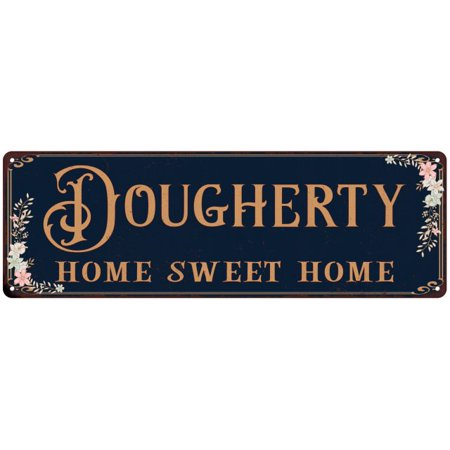 Dougherty Home Sweet Home Victorian Look Gloss Metal Sign 6X18 Distressed Shabby Chic D Cor  Home  Game Room G61803178