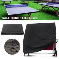 Ping Pong Table Cover Waterproof Dustproof Folding Adjustable Tennis Table Protective Cover with Drawstring for Outdoor