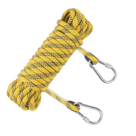12mm Climbing Rope Gym Fitness Training Safety Static Rope Rock Rappelling Cord Escape Rescue Gear Outdoor 32ft thumbnail