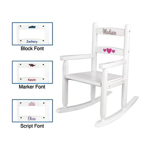 KidKraft Personalized White 2-Slat Rocker