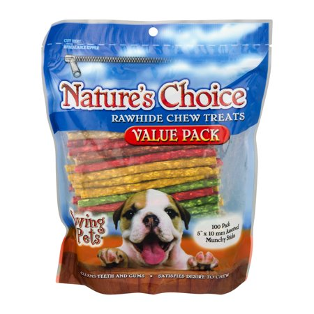 Nature's Choice Rawhide Chew Treats, 100.0 PACK