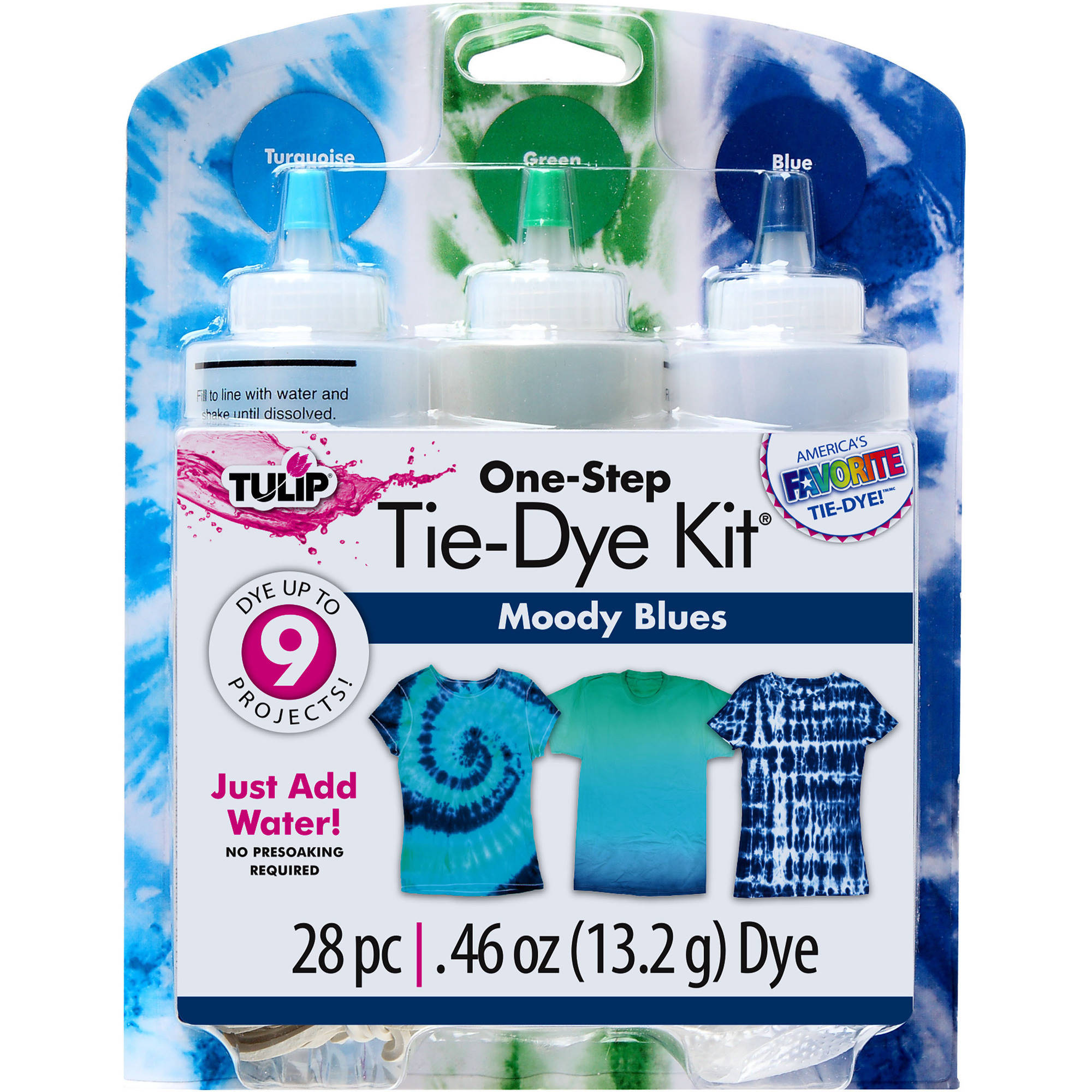 Tulip 3-Color Moody Blues Tie Dye Kit