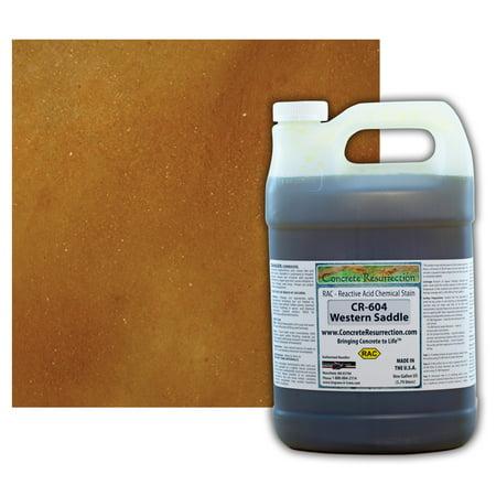 Concrete Resurrection Reactive Acid Concrete Stain Western Saddle (Brown w/Copper Undertones)