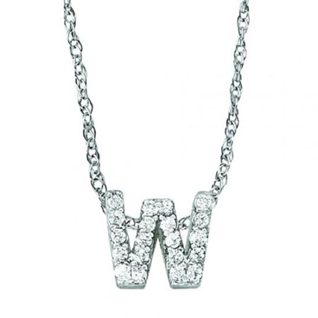 Harry Chad Enterprises HC11046 0.50 CT Round Diamonds Pendant Necklace with Chain - 14K White Gold - image 1 of 1