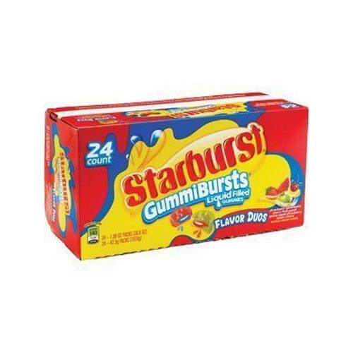 Starburst Gummy Bursts Liquid Filled Duos - 1.5 Oz, 24 Ea