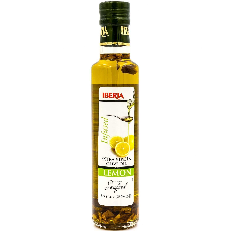 Iberia Infused Extra Virgin Olive Oil, with Lemon, 8.5 Fl Oz