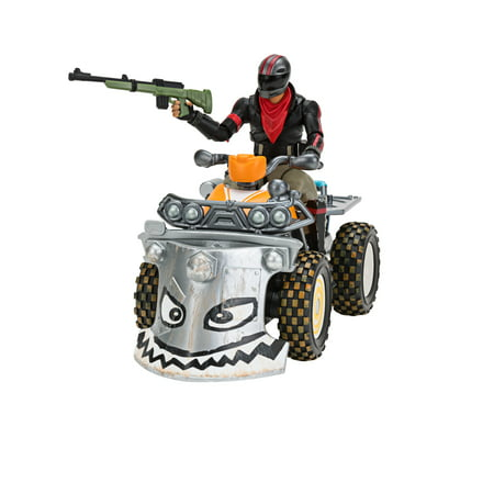 Fortnite Quadcrasher Vehicle with Burnout 4-inch Action Figure Included