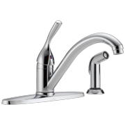 Single Handle Kitchen Faucet with Spray in Chrome 400-DST
