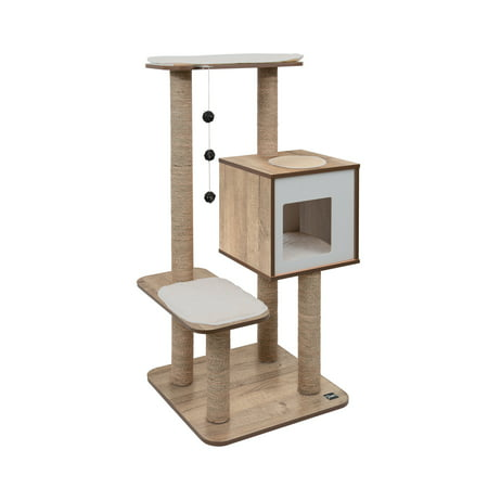 Vesper Cat Furniture High Base Oak Walmart Com