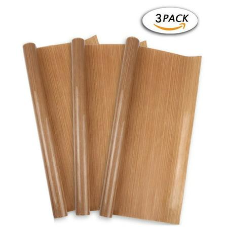 - 3 Pack PTFE Teflon Sheet for Heat Press Transfer Sheet Non Stick 16 x 24
