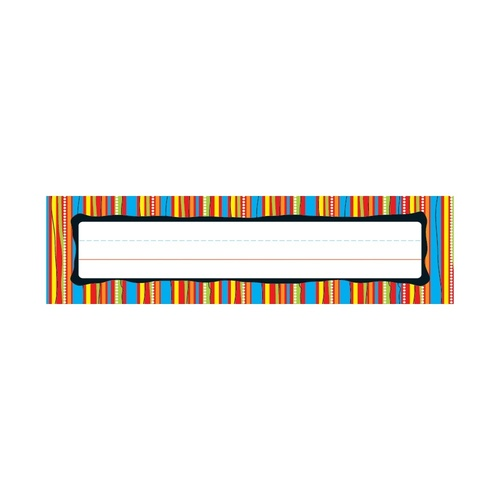 Click here to buy Colorful Stripes Nameplates.