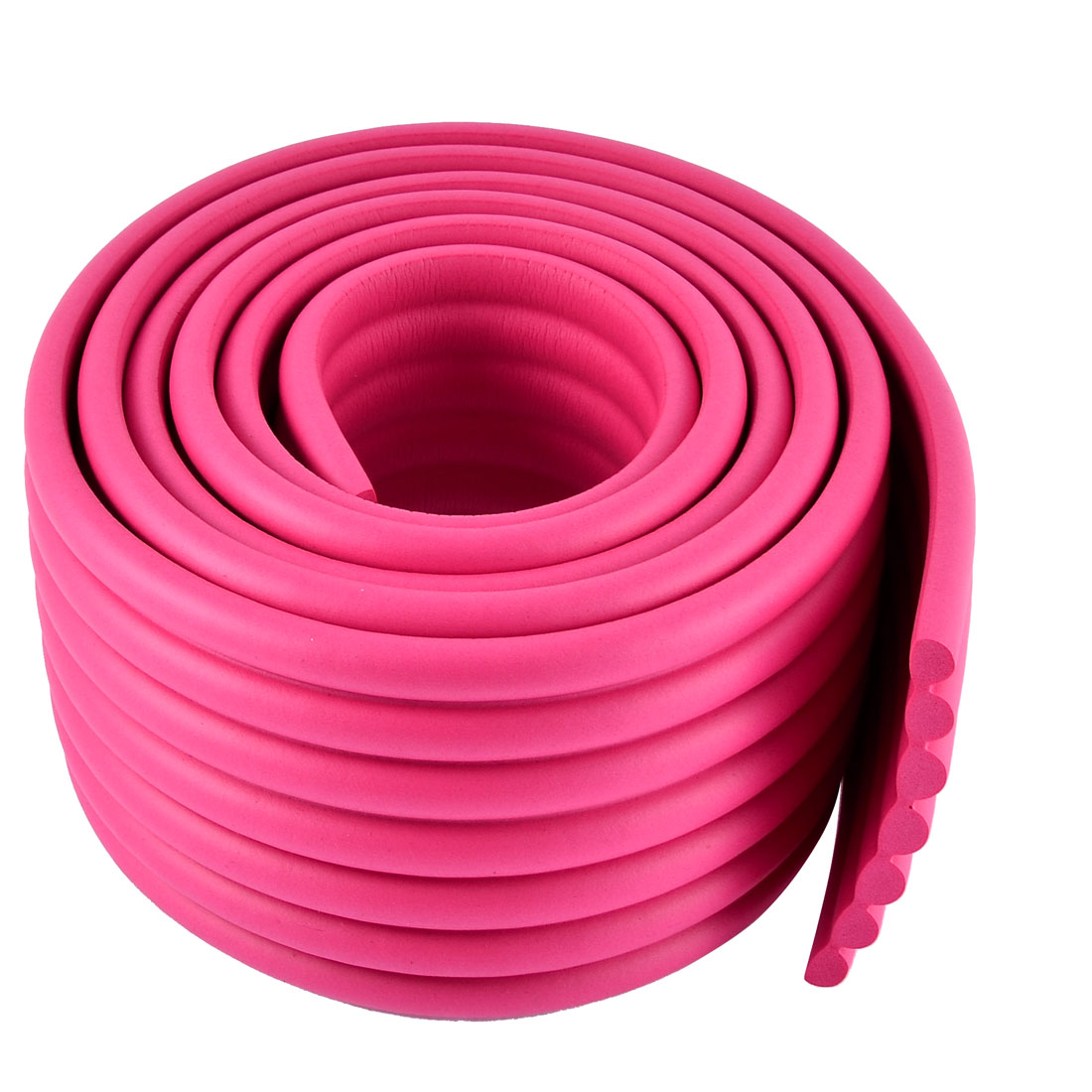 Table Desk Edge Corner Cushion Guard Protector Bumper 2M Long Fuchsia