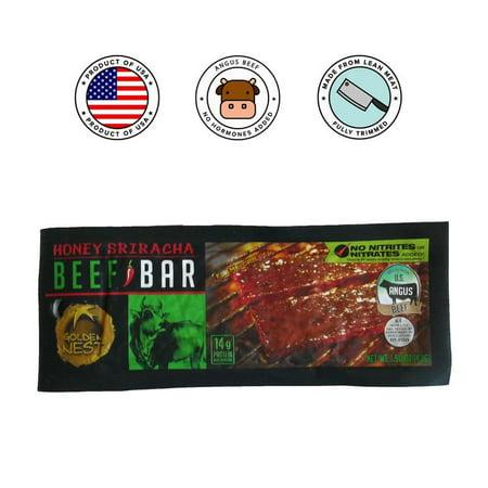 Golden Nest Beef Jerky Bar - Sweet Sriracha - 1.5 oz. x 12 covid 19 (Red Barn Beef Roll coronavirus)