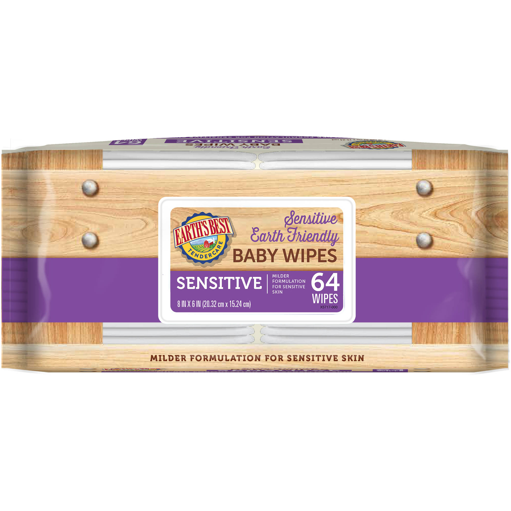 Earth's Best Tender Care Sensitive Baby Wipes, 64 sheets